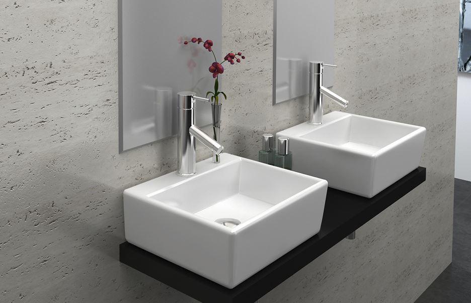 g ste waschbecken aufsatz oder wandmontage aus keramik 33cm. Black Bedroom Furniture Sets. Home Design Ideas
