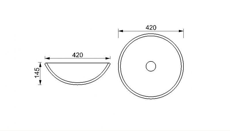 glas waschbecken gr n wiese 42cm. Black Bedroom Furniture Sets. Home Design Ideas