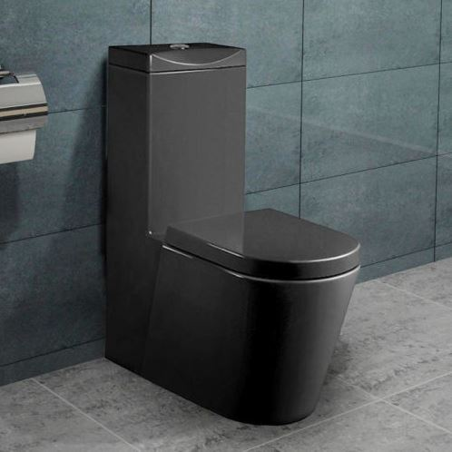 stand wc toilette mit integriertem sp lkasten schwarz mit. Black Bedroom Furniture Sets. Home Design Ideas
