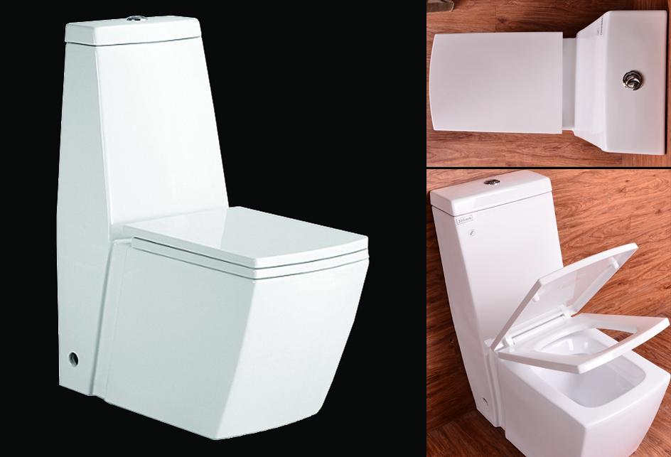 Stand-WC Toilette Mit Integriertem Spülkasten Mit Deckel Nano
