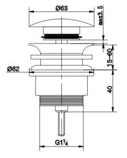 Sifon Abfluss Set Inkl Ablaufventil Mit Push Up Funktion Fur