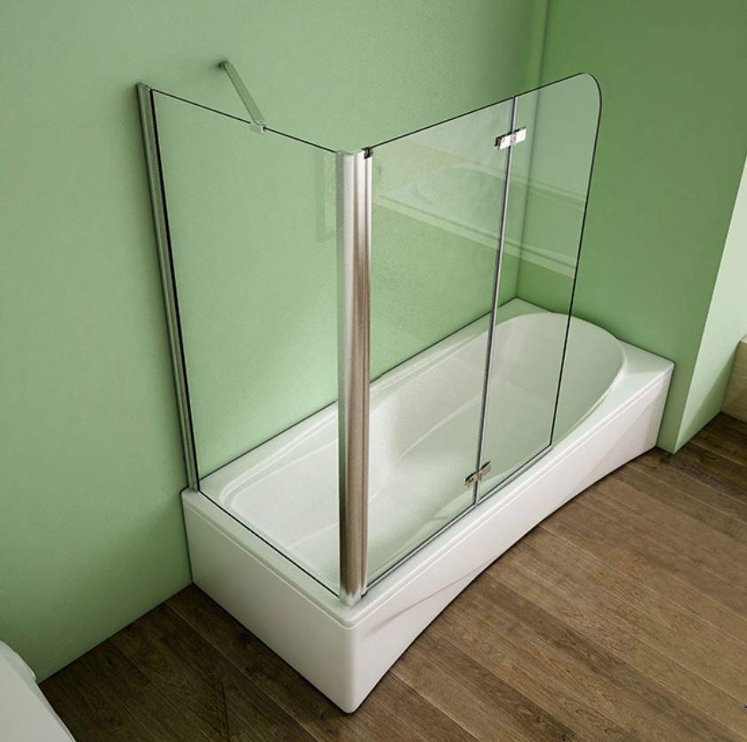 badewannenaufsatz eck faltwand seitenwand glas 90 110x70 80x140cm. Black Bedroom Furniture Sets. Home Design Ideas