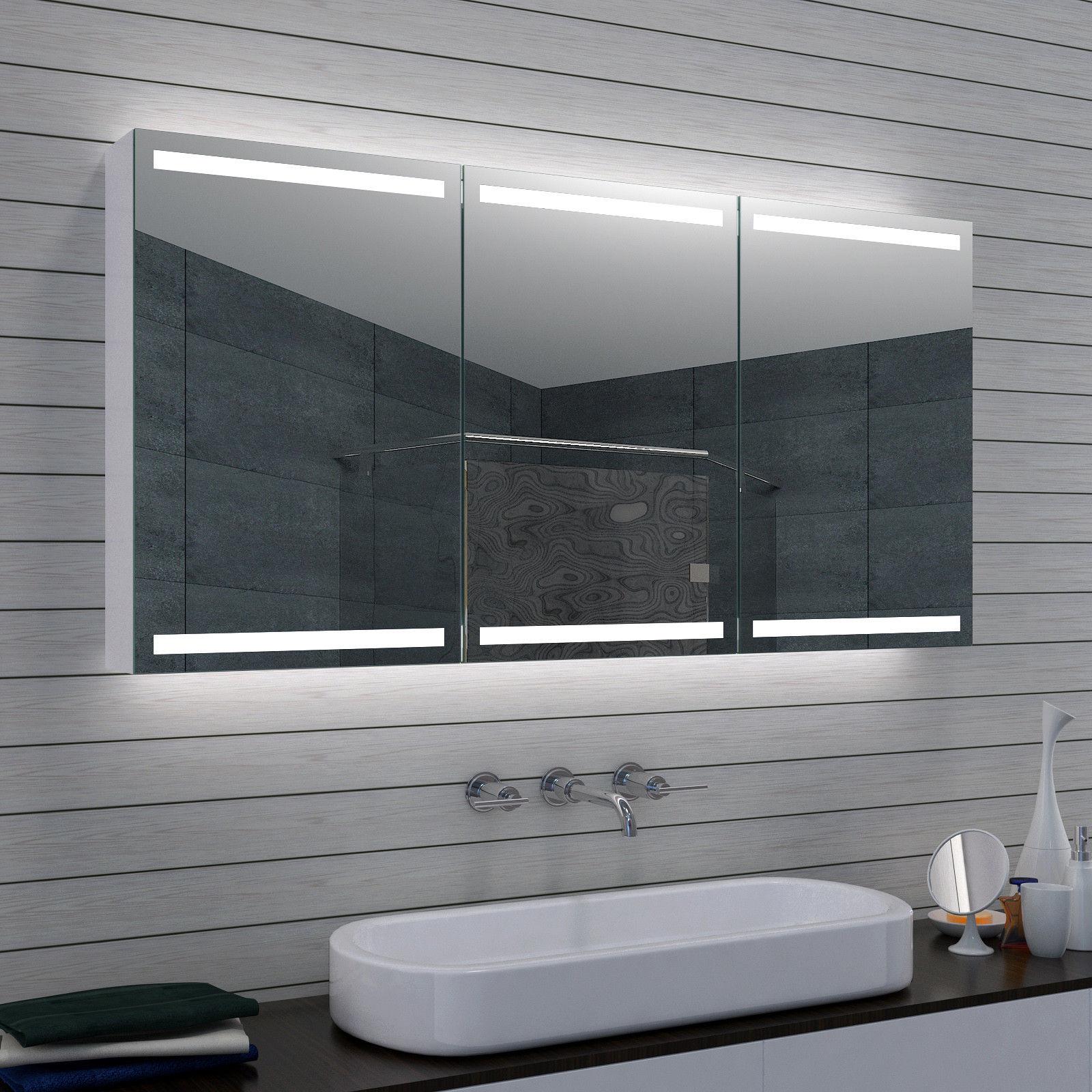 Spiegelschrank Bad Mit Led 140x70 Cm Kalt Warm Spiegel Bad Schrank