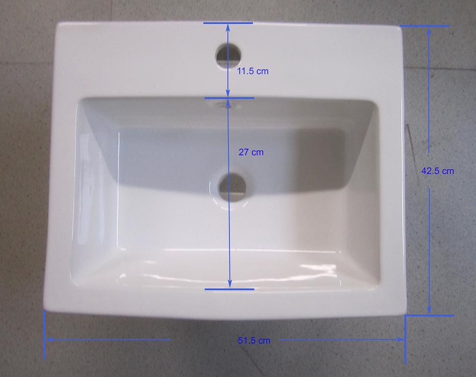 Hänge Waschbecken Waschtrog Lavabo Keramik 57x48cm