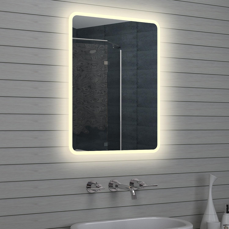 Badspiegel schminkspiegel mit led rahmen 60x80cm - Badspiegel mit rahmen ...