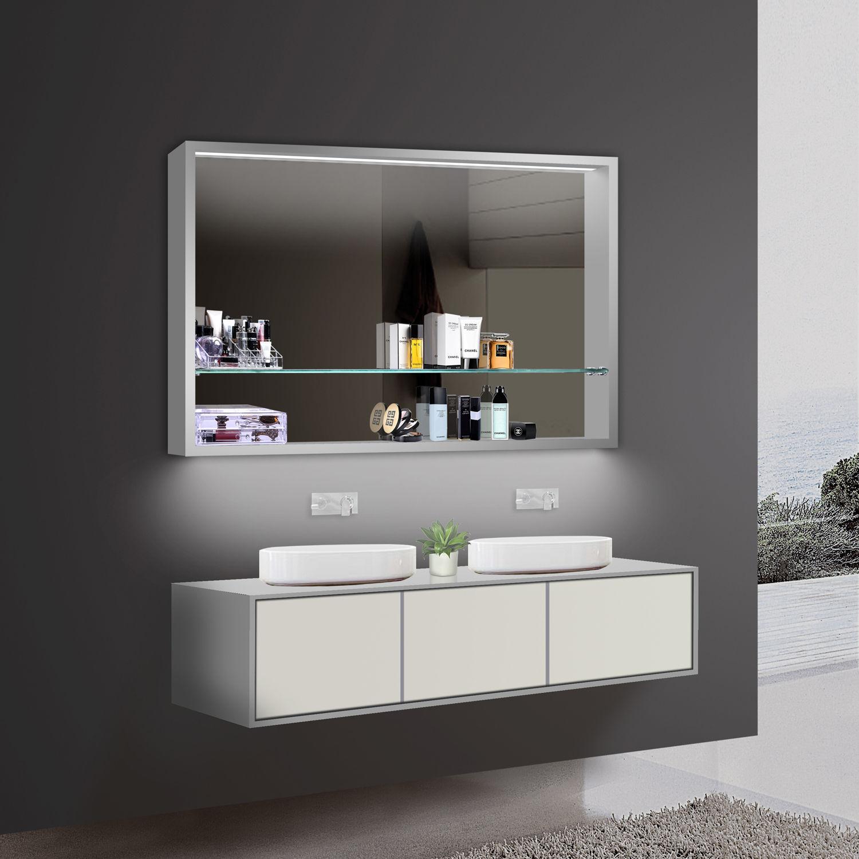 LED Spiegelschrank 120x75 cm, Kaltweiss / Warmweiss ...