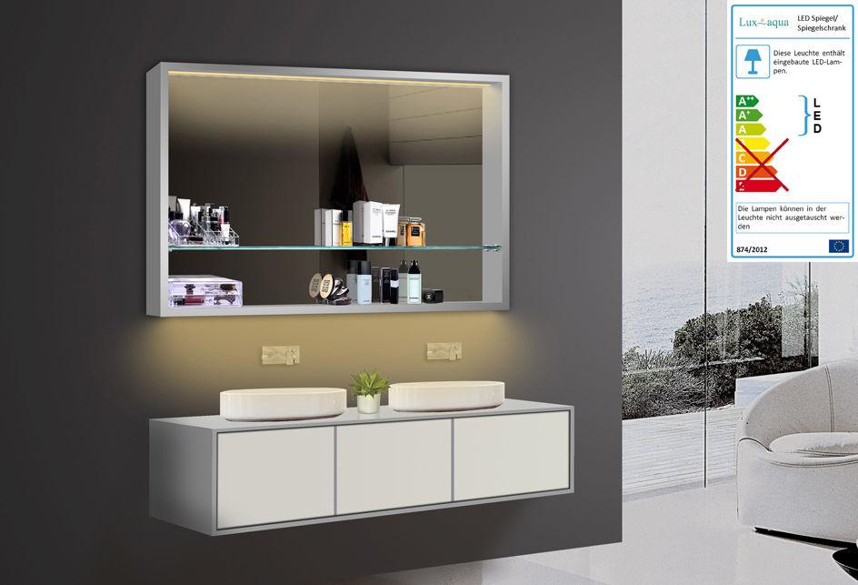 LED Spiegelschrank 120x75 cm, Kaltweiss / Warmweiss Badezimmer Spiegel