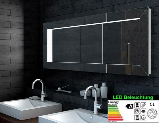Badezimmerspiegel Led Mit 3d Effekt 160x60cm Badspiegel