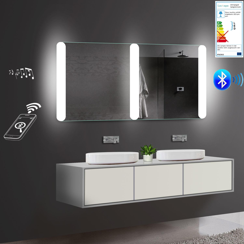 Badezimmerspiegel Led Mit Bluetooth Lautsprecher 160x81cm Badspiegel