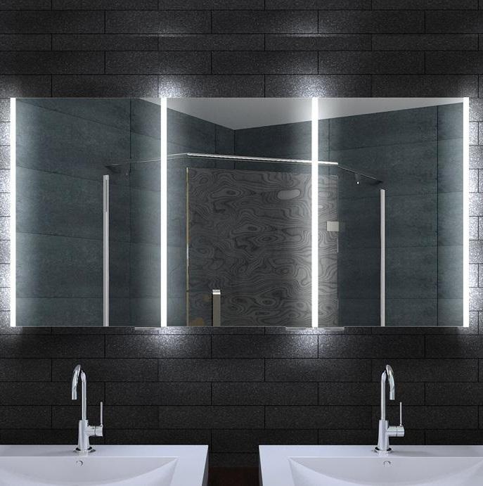 Led Lichtspiegel Schrank 140x70 Cm Steckdose Sensorschalter