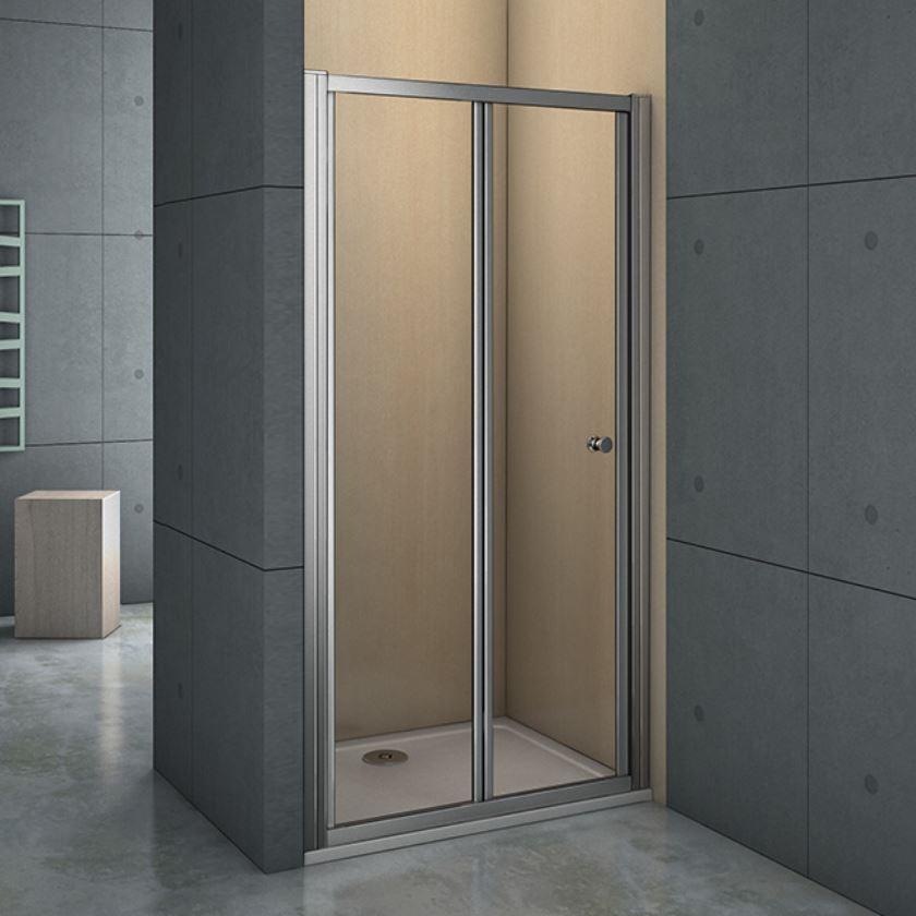 Falttüre Duschtüre 70 100cm Mit 5mm Echt Glas Nischentüre