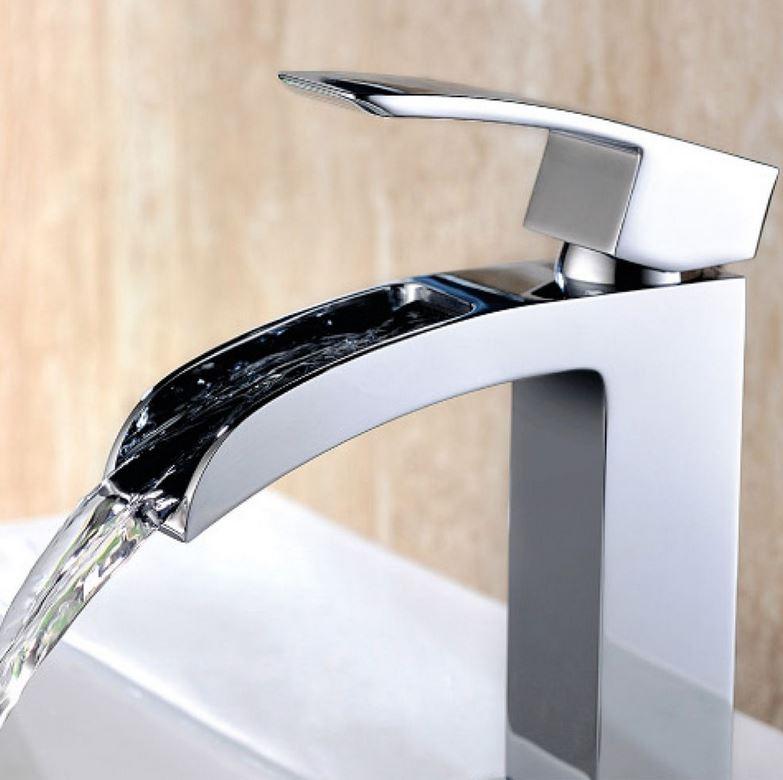Armatur wasserfall tief einhebelmischer verchromt 16cm - Armatur wasserfall ...