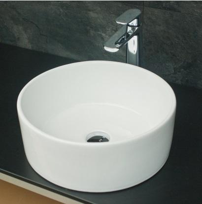 aufsatz waschbecken keramik rund 40cm. Black Bedroom Furniture Sets. Home Design Ideas