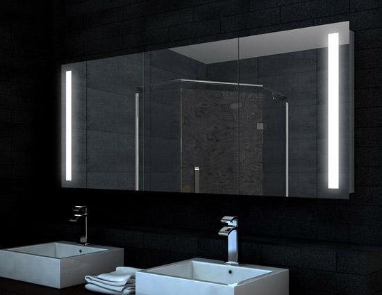 spiegelschrank xxl mit led 160x68cm badezimmer spiegel. Black Bedroom Furniture Sets. Home Design Ideas