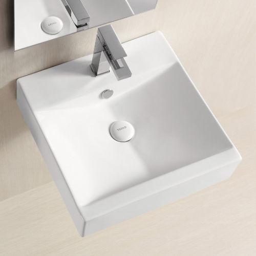 Gästewaschbecken gäste waschbecken hänge oder aufsatz lavabo keramik quadratisch 45cm