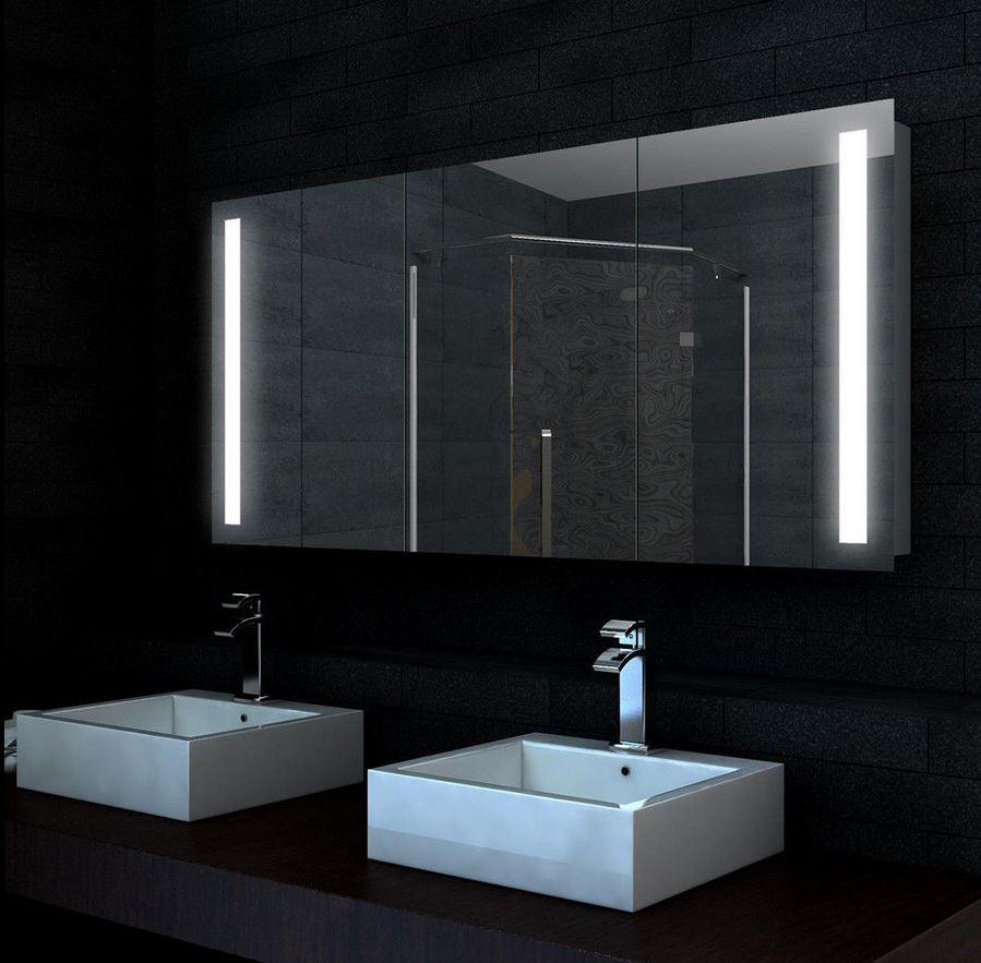 Spiegelschrank Xxl Mit Led 140x68cm Badezimmer Spiegel